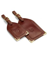 Aspinal of London Set Of 2 Luggage Tags - Brown