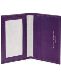 Aspinal of London - Ladies Purple Leather Id & Travel Card Case - Lyst