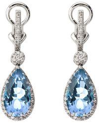 Aspinal of London Hollywood Teardrop Earrings - Blue