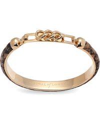 Aspinal - Chainlink Skinny Cuff Bracelet - Lyst