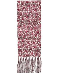 Aspinal of London - Paisley Silk Scarf With Tassels - Lyst