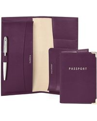 Aspinal - Lindbergh Travel Wallet With Passport Cover - Lyst