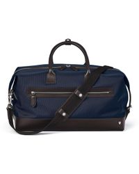 Aspinal of London Anderson Holdall - Blue