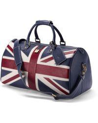 Aspinal of London Handmade Brit Blue Travel Bag