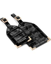 Aspinal of London Set Of 2 Luggage Tags - Black