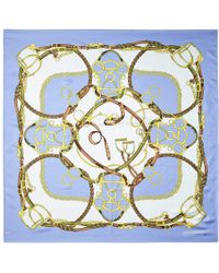 Aspinal of London - Ladies Handmade Horseshoe Silk Scarf - Lyst