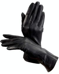 Aspinal of London Leather Gloves - Black