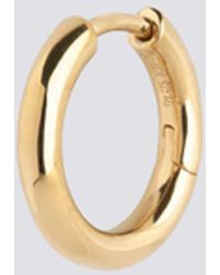 Maria Black Gold Polo Huggie - Metallic