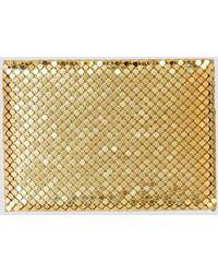 Whiting & Davis Gold Mesh Card Holder - Metallic