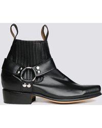 Chamula Unisex Leather Botin Cochi Boot - Black