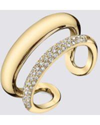 Gabriela Artigas Pave Twin Tusk Ring - Metallic