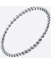 Gabriela Artigas White Gold Rope Ring - Metallic