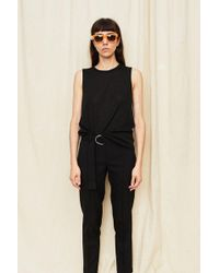 Assembly - Black Knit Muscle Tee - Lyst