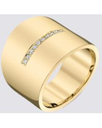 Gabriela Artigas Single Line Pave Cigar Ring - Metallic