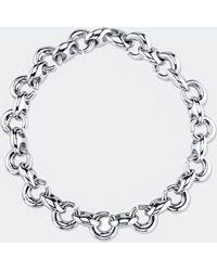 Gabriela Artigas - White Gold Egg Link Bracelet - Lyst