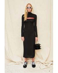 Assembly - Black T-neck Dress With Red Zip - Lyst