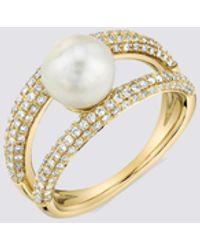 Gabriela Artigas Pave Pearl Twin Ring - Metallic