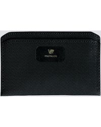 Postalco - Black Crossgrain Leather Flat Wallet - Lyst