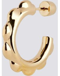 Maria Black Gold Poppy Hoop - Multicolour