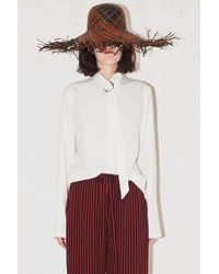 Assembly - Non Collar Blouse - White - Lyst