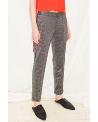 Assembly Silver Lurex Pintuck Pant