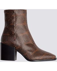 Aeyde - Leandra Snake Print Boot - Lyst