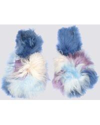 Ariana Bohling - Blue Multi Alpaca Suri Slipper - Lyst