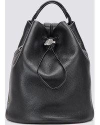 Kara - Black Drawcord Backpack - Lyst