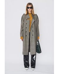 Assembly - Wool Plaid Trench - Lyst