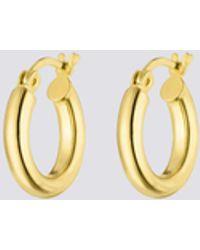 Nina Kastens Jewelry Small Gold Hoops - Metallic