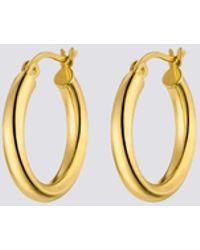 Nina Kastens Jewelry Medium Gold Hoops - Metallic
