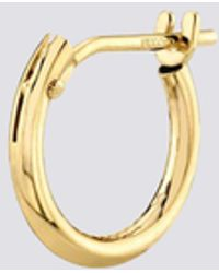 Gabriela Artigas 14k Small Hoop With Hinge - Metallic