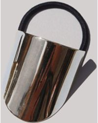 Saskia Diez - Silver Oval Hair Tie - Lyst