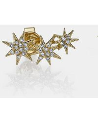 Gabriela Artigas 14k Triple Shooting Star Earrings - Metallic