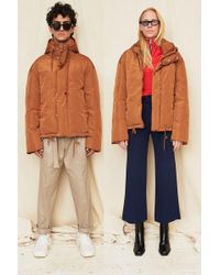 Assembly - Brown Puffer Coat - Lyst