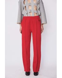 Assembly - Cotton Pintuck Sweat Pant - Red - Lyst