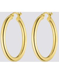 Nina Kastens Jewelry Large Gold Hoops - Metallic