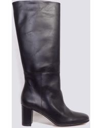 INTENTIONALLY ______ Black Leather Pam Boot