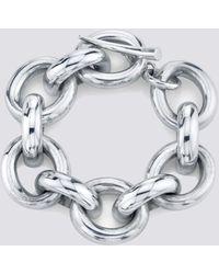 Gabriela Artigas Sterling Silver Full Link Bracelet - Metallic