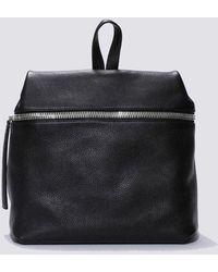 Kara Large Pebbled Leather Backpack - Black