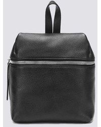 Kara Small Pebbled Leather Backpack - Black