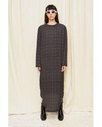 Assembly - Silk Print Long Sleeve Bevel Dress - Lyst