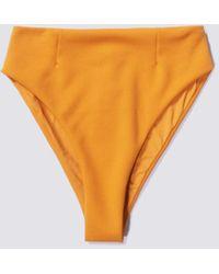 Haight Chrome Crepe Highleg Hotpants - Orange