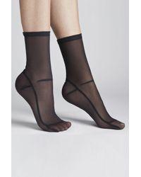 Darner - Solid Mesh Sock - Black - Lyst