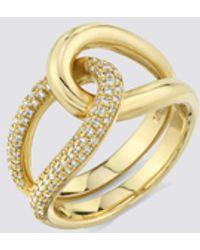 Gabriela Artigas Pave Link Ring - Metallic