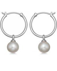 Astley Clarke Vera Pearl Drop Hoop Earrings - Multicolor