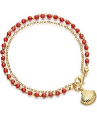 Astley Clarke | Red Agate Shell Biography Bracelet | Lyst