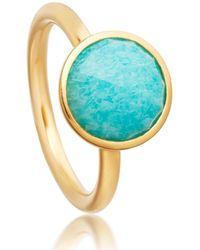 Astley Clarke Round Stilla Ring - Blue