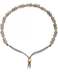 Astley Clarke - Labradorite Beaded Skinny Kula Bracelet - Lyst