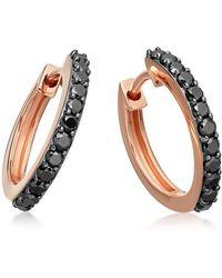Astley Clarke - Medium Halo Black Diamond Hoop Earrings - Lyst